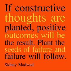 Constructive Thoughts