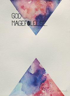 Originalmaleri med akvarell og penn i A4-format. Grovt papir med struktur. http://www.bythea.no.com/