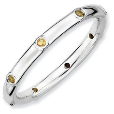 Sterling Silver Stackable Expressions Citrine Ring for $49.97.