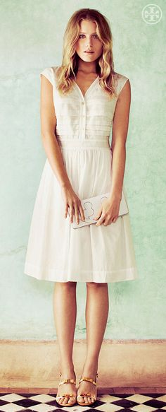 The Little White Dress: Soft + Floaty | Tory Burch Summer 2013