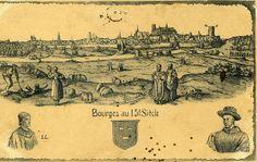 Une vue de #Bourges au 15ème siècle Bourges, Cher, Berry, Vintage World Maps, Paris, Movie Posters, Antique Post Cards, Montmartre Paris, Film Poster