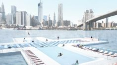 The designers of the +Pool swimming pool, which would see a swimming pool built in one of New York's rivers, have launched a Kickstarter campaign to sell pieces of the pool a tile at a time.