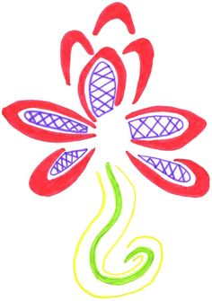 Tribal Flower 2 #tribal #flower #drawing #doodle