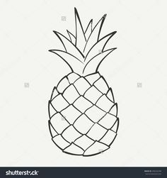 stock-vector-outline-black-and-white-image-of-a-pineapple-vector-graphics-290242298.jpg (1500×1600)
