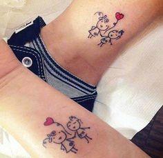 Sibling Tattoos, Bff Tattoos, Best Friend Tattoos, Family Tattoos, Trendy Tattoos, Cute Tattoos, Beautiful Tattoos, Small Tattoos, Tattoos For Women