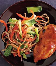 Sweet and Spicy Chicken With Soba Salad from realsimple.com #myplate #protein #vegetables