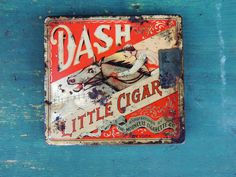 Antique vtg 1920s DASH Little CIGAR TIN Box Moonelis Cigarette Co NYC Horse Race | eBay
