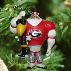 Georgie Bulldogs Rivalry Ornaments