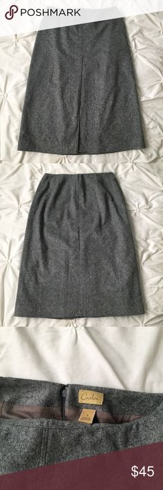 "Caslon Wool & Cashmere Gray Pencil Skirt Caslon Wool/Cashmere Gray Pencil Skirt - size 6 - front pleat, back zip, inside liner, very soft! 26.5"" top to bottom  ----- 🚭 All items are from a non-smoking home. 👆🏻Item is as described, feel free to ask questions. 📦 I am a fast shipper with excellent ratings. 👗I love bundles & bundle discounts. Feel free to make an offer! 😍 Like this item? Check out the rest of my closet! 💖 Thanks for looking! Caslon Skirts"