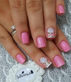 Best Nail Art Designs 2018 Every Girls Will Love These trendy Nails ideas would gain you amazing compliments. Trendy Nails, Cute Nails, My Nails, Best Nail Art Designs, Beautiful Nail Designs, Spring Nail Art, Spring Nails, Mandala Nails, Pretty Nail Colors