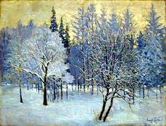 Le Frost. Paille-Coloured Sky, huile sur toile de Igor Emmanuilovich Grabar (1871-1960, Hungary)