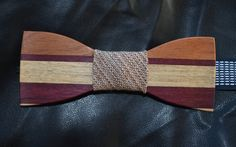 i wouldn't have thought bow tie can be made in wood! So special!