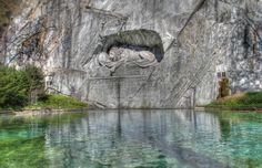 El león de Lucerna, Suiza. Fuente: Moustacheboy