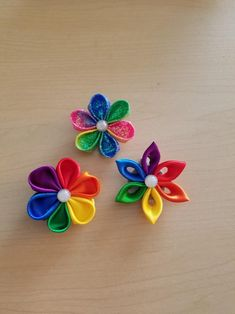 14 Satin finish flower shaped stickers choice of 4 colours faux gem middles