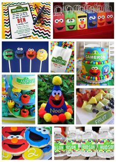 Sesame Street Party Inspiration Board @Whitney Clark conley ... the little bags are TOO cute!