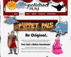 Animated cartoon maker  http://www.polishedplay.com/apps/puppet-pals.html