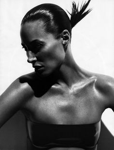 Christy Turlington by Michael Thompson for W August 2008 _