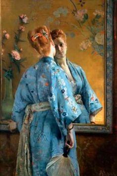 La Parisienne japonaise (1872), Alfred Stevens ✿⊱╮