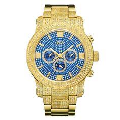 JBW Men's J6336C Lynx .80 ctw 18k gold-plated stainless-steel Diamond Watch