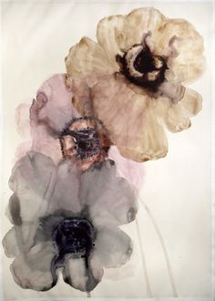 Lourdes Sanches - 3 anemones watercolor and ink on paper watercolor and ink on paperr29.5¨x 43