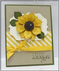 Beautiful Bunch, sunflower, Stampin' Up!, #stampinup, Connie Babbert, www.inkspiredtreasures.com