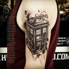 The #tardis from #doctorwho ! He wanted it a #inkb.. - picturegr.am