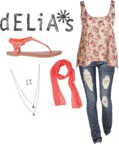 """delias"" by catdogcf ❤ liked on Polyvore"