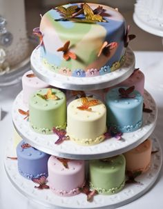 butterfly cake and mini cakes