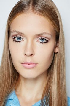 """Makeup artist Attracta Courtney described this as """"60's dreaminess captured under a soft focused Instagram lens"""" – we want in! She used the Bourjois Quad Eyeshadow palette in Over Rose to create the bright eyelids and semi-circle socket lines and the Bourjois Volume Glamour Push up Mascara for those Twiggy-esque fat lashes. Dolly beauty at its coolest.     - Cosmopolitan.co.uk"""