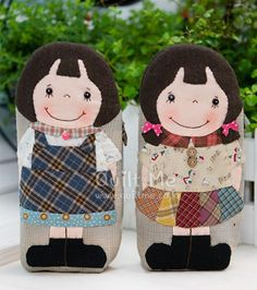 Diy Arts And Crafts, Crafts To Make, Japanese Patchwork, Diy Presents, Coin Bag, Fabric Bags, Quilted Bag, Felt Dolls, Applique Quilts