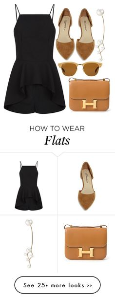 """Constellation"" by cherieaustin on Polyvore featuring Finders Keepers, Hermès, Ray-Ban, Breckelle's and Sophie Bille Brahe"