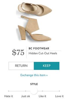 BC FOOTWEAR Hidden Cut Out Heels from Stitch Fix…