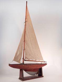 Elegant Model Sailboat circa 1920-30's