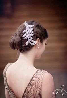 Gorgeous handmade vintage bridal accessory. Win your own from @jillcarolyn! | http://www.weddingpartyapp.com/blog/2014/10/09/win-gorgeous-bridal-accessories-wedding-day-style-jills-boutique/