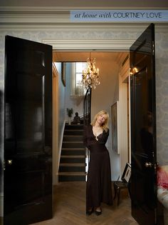 LOVE a glossy black laquered door, especially of this grand scale. Simply Smitten by Kristin Kerr