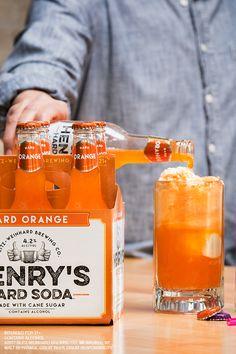 Henry's Hard Soda Floats: Start with two scoops of vanilla ice cream. Finish with a cold Henry's Hard Soda. #LiveHardish