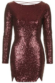 This is the one I bought in the end. Long Sleeve Sparkle Dress from Oasis Sequin Midi Dress, Red Bodycon Dress, Sequin Cocktail Dress, Sequin Party Dress, Cocktail Dresses, Party Dresses, Dress Red, Long Sleeve Sparkle Dress, Dress Long