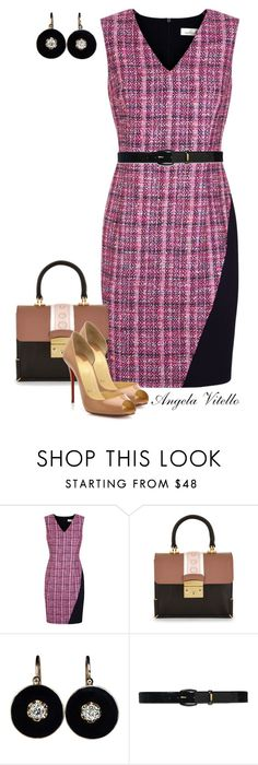 """""""Untitled #679"""" by angela-vitello on Polyvore featuring Damsel in a Dress, Lauren Ralph Lauren, Christian Louboutin, women's clothing, women, female, woman, misses and juniors"""