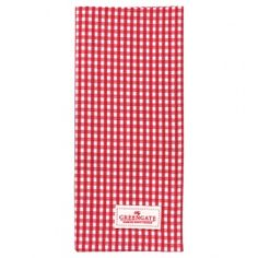 GreenGate Autumn/Winter 2014 Teatowel Ida Red 50 x 70 cm