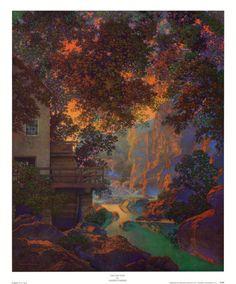 Old Oak Glen Print by Maxfield Parrish