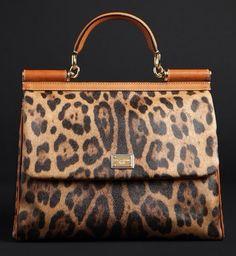DOLCE GABBANA | Miss Sicily |= Lovely Leopard Bag |=