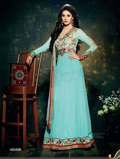 #Designer Salwar Kameez#Blue #Indian Wear#Desi Fashion #Natasha Couture#Indian Ethnic Wear#Indian Suit# Casual suits#Summer Collection #Anarkali #Wedding Collection
