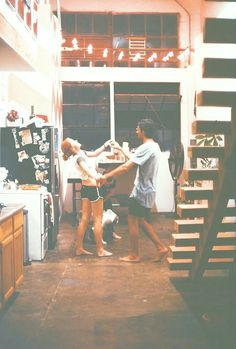"""""""One of my all-time favorite pictures. I just love the idea. They're just dancing in a kitchen, like it's a normal, everyday thing."""""""