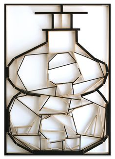#13. Objeto en madera, acrílico,150 x104 x 5 cm. '2014