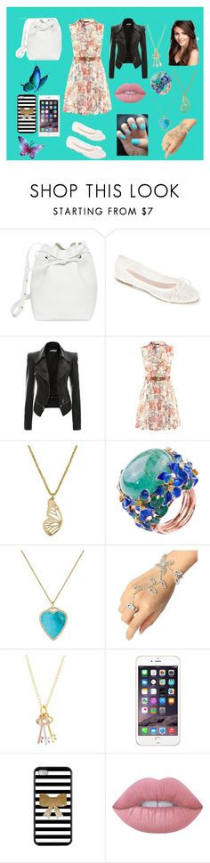 """""""Audrey Gilbert"""" by ariana-079 ❤ liked on Polyvore featuring beauty, Mansur Gavriel, Summit by White Mountain, Lucky Brand, Jennifer Meyer Jewelry, Mminimal and Lime Crime"""
