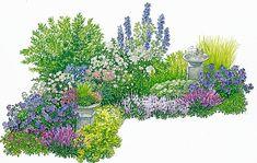 Diy Garten Design tips for an ever-flowering bed Always-flowering bed with planting plan. Plants, Beautiful Gardens, Planting Flowers, Planting Plan, Diy Garden, Garden Layout, Garden Planning, Cottage Garden, Garden Projects