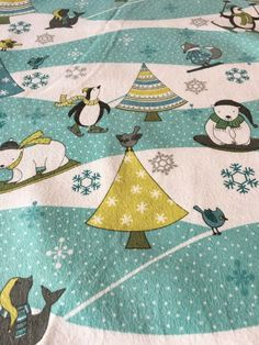 Artic Antics - Flannel Fabric by Debbie Mumm for Wilmington Prints Fabrics yd Cute Flannel Outfits, Wilmington Prints, Winter Scenes, Fabric Patterns, Cool Pictures, Craft Projects, Kids Rugs, Quilts, Fabrics