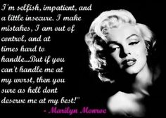 the perfect line: Monroe Magic - 24 Marilyn Quotes on Love, Life and Girl Power Great Quotes, Quotes To Live By, Inspirational Quotes, Awesome Quotes, The Words, Flirting Quotes, Funny Quotes, Cartoon Quotes, It's Funny