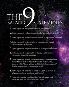 Satanic statements.