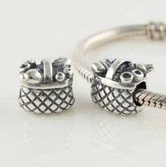 CLLW137 925 Sterling Silver Flower Basket Pandora beads Screwed Core on sale,for Cheap,wholesale